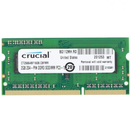 Ram Macbook Crucial 2Gb bus 1600MHz PC12800 For Laptop