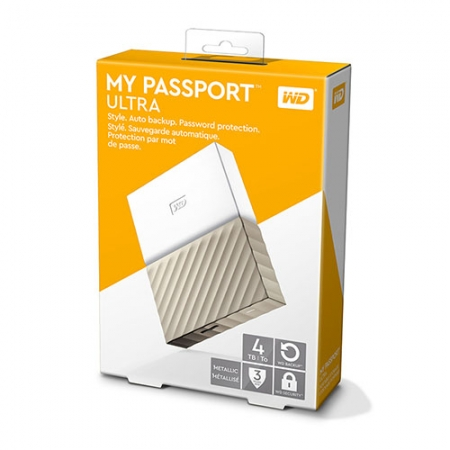 Ổ cứng WD My Passport Ultra 4TB WDBFKT0040BGD - White Gold