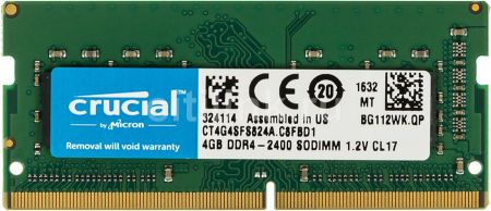 Ram Laptop Crucial 4Gb DDR4 Bus 2400MHz PC4 for Macbook giá tốt