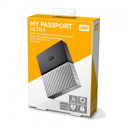 Ổ cứng WD My Passport Ultra 4TB WDBFKT0040BGY - Black Gray