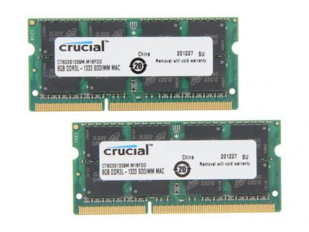 Ram Laptop Crucial 8Gb bus 1333MHz PC 10600 for macbook
