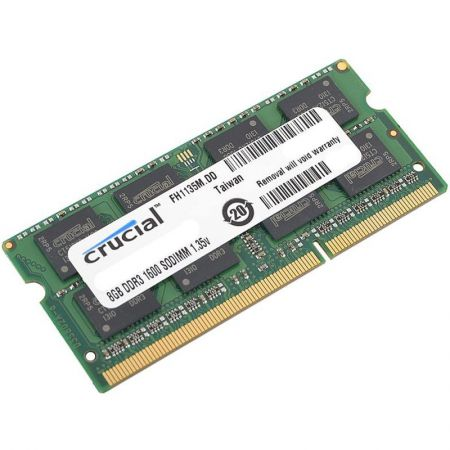 RAM Laptop Crucial 8Gb DDR3 bus 1600MHz PC3L For macbook giá rẻ nhất