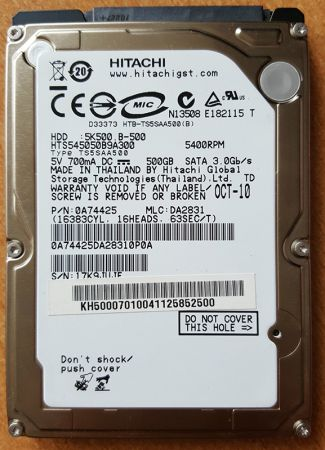 Ổ cứng laptop HDD Hitachi 500Gb 5400 SATA3