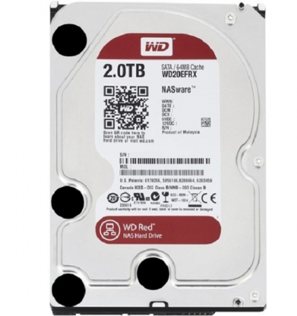 Ổ cứng HDD Red 2TB 3.5'' SATA 3/64MB Cache/5400RPM