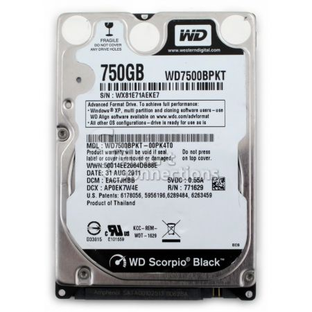 Ổ cứng laptop HDD Seaget/SamSung/WD 750Gb