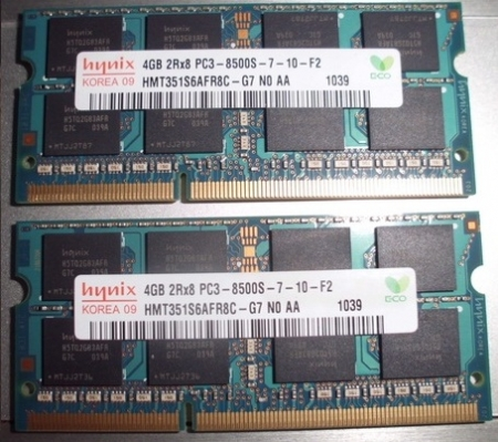Ram Laptop Hynix 4GB DDR3 1066MHz PC8500 for Macbook