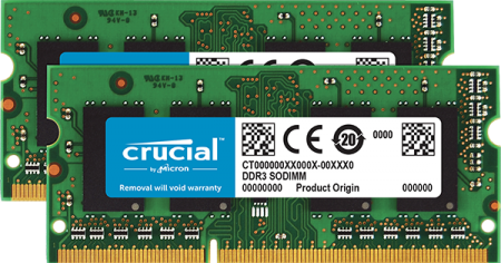 Ram Laptop Crucial 4Gb bus 1333MHz PC 10600 for macbook