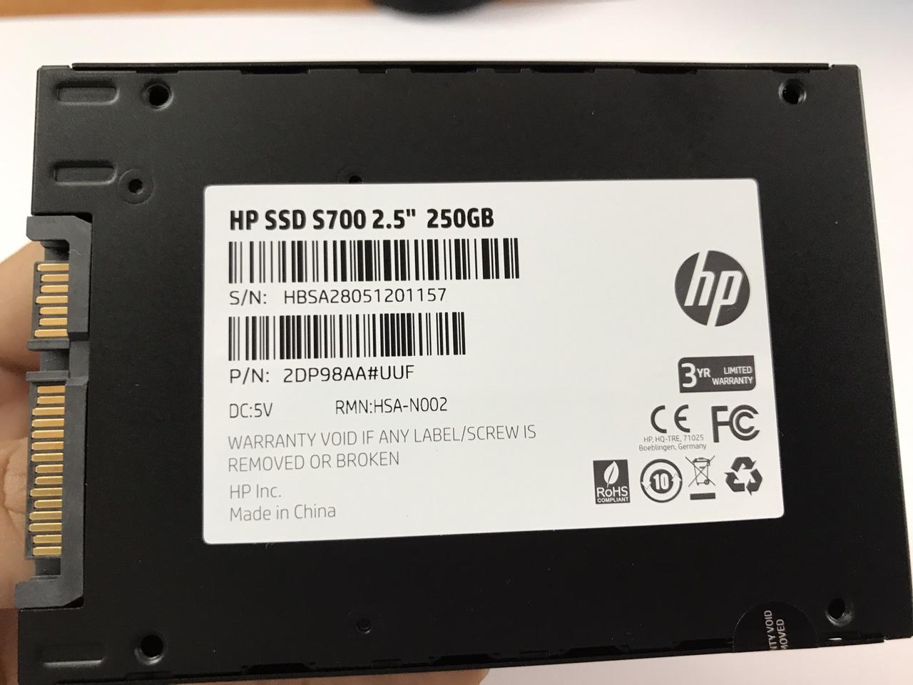 ssd HP 250gb S700