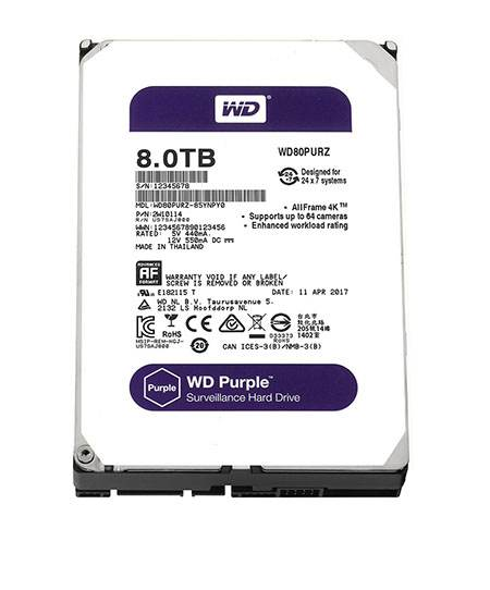"Ổ cứng WD HDD Purple 8TB 3.5"" SATA 3/128MB"