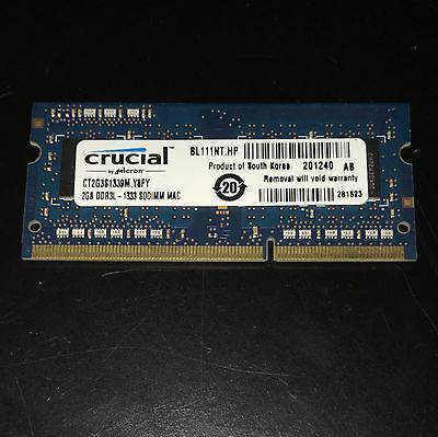 Bán Ram Laptop Crucial 2Gb DDR3 bus 1333MHz PC 10600 For Macbook