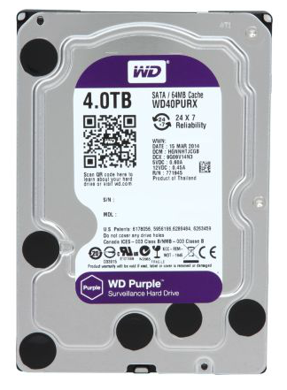 Ổ cứng HDD Western Digital Purple 4TB 64MB Tím