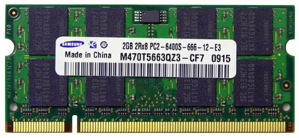 Ram Laptop Samsung Hynix DDR2 2GB bus 800 PC6400 For Macbook