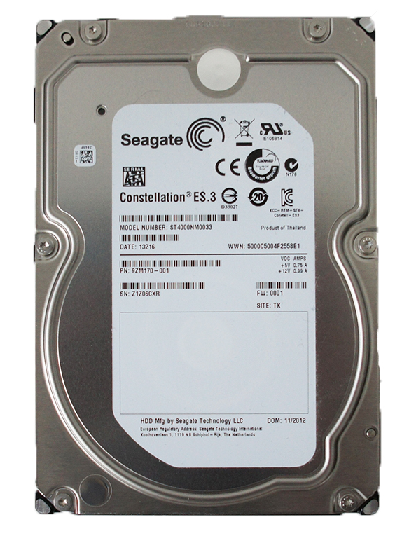 SEAGATE CONSTELLATION ES.3 ST4000NM0033 4TB 7200 RPM 128MB CACHE SATA 6.0GB/S 3.5""