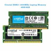 RAM Laptop Crucial 4Gb bus 1600MHz PC3L 12800 for macbook