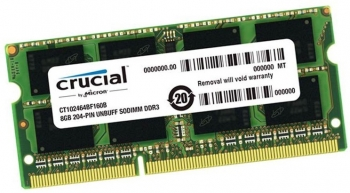 Ram Sodimm 8GB DDR3 Crucial Bus 1333MHz PC3-10600 Dùng Cho Laptop Macbook