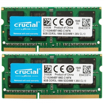 Ram Laptop 8GB DDR3 1866MHz Crucial Micron 1.35V PC3-14900 (SO-Dimm)