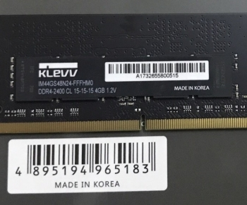 Ram Klevv 4Gb DDR4 bus 2400Mhz for laptop macbook chính hãng