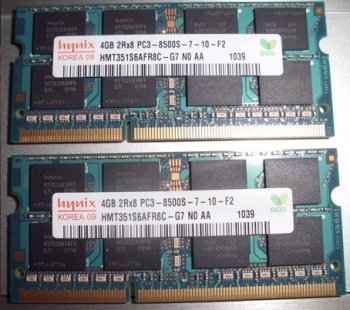 Ram Laptop Hynix 4Gb Bus 1066MHz PC8500 for macbook
